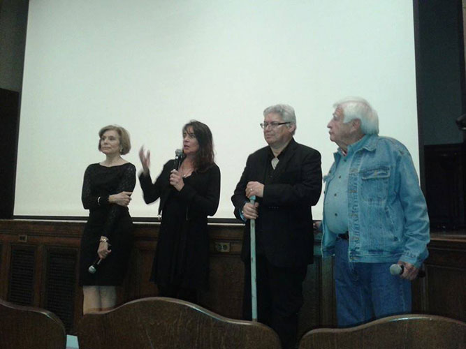 L to R: Merel Julia, widow of the actor Raul Julia, actress Julie Carmen, one of the stars of The Penitent,& New Mexico 